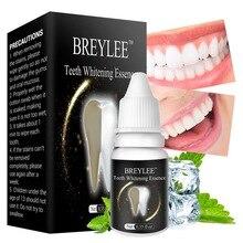 BREYLEE отбеливающая эссенция для зубов, очищающая гигиеническая Сыворотка для полости рта, удаляет зубной налет, отбеливает зубы, отбеливает пятна, уход за зубами