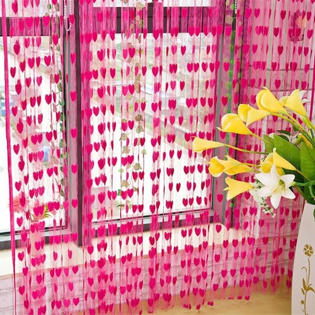 Curtains for Living Room 200cm x 100cm Silk String Curtain blinds Window Door Divider Sheer Curtains Valance Window kitchen