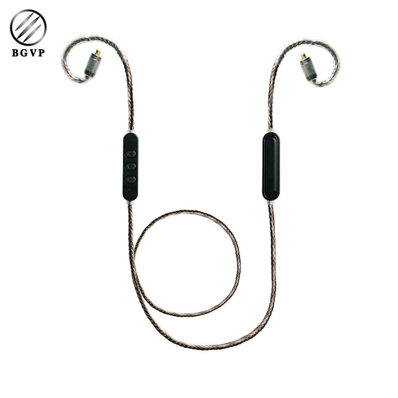 BGVP M1 APTX CSR8645 Bluetooth 4.1 Upgrading Cable MMCX Headsets BGVP DN1 DM5 DS1 5N OCC Earpone Cable with Mic Audiophile