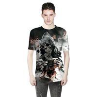 CFYH 2018 Haute qualité Cool T-shirt Hommes ou Femmes chaude 3d t-shirt Impression poker Crâne Rétro À Manches Courtes Été Tops T-shirts de mode