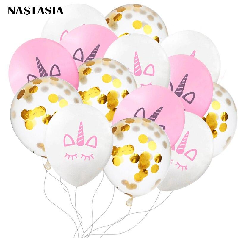 NASTASIA Unicorn glitter   Latex Balloon Balls Wedding Marriage Birthday Decoration BalloonWholesale Multicolored 15pcslot