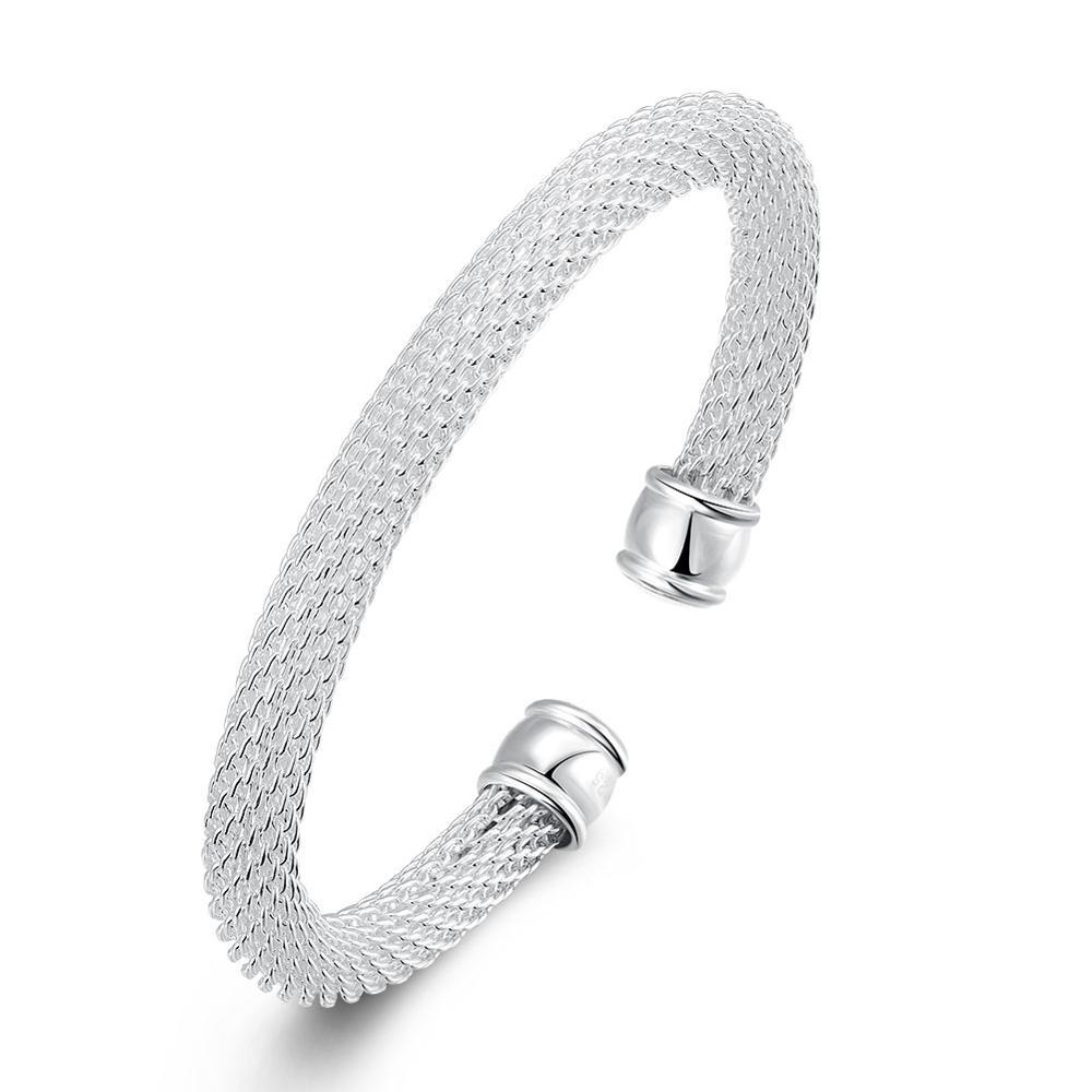 Wholesale and Luxury Silver Carter Bracelets For Women Girls Opening Cuff Mesh Bangle Wedding Fantasia Feminino Jewelry Gift