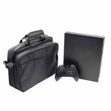 MASiKEN Protetora Viagem Carry Case Bag bolsa Para Xbox One X Game Console Bolsa Bolsa de Transporte de Armazenamento Portátil Caixa de Luva Preta