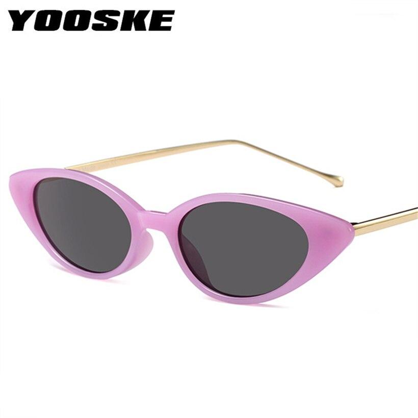 Yooske pequeño ojo de gato Gafas de sol mujer clásico marca ...