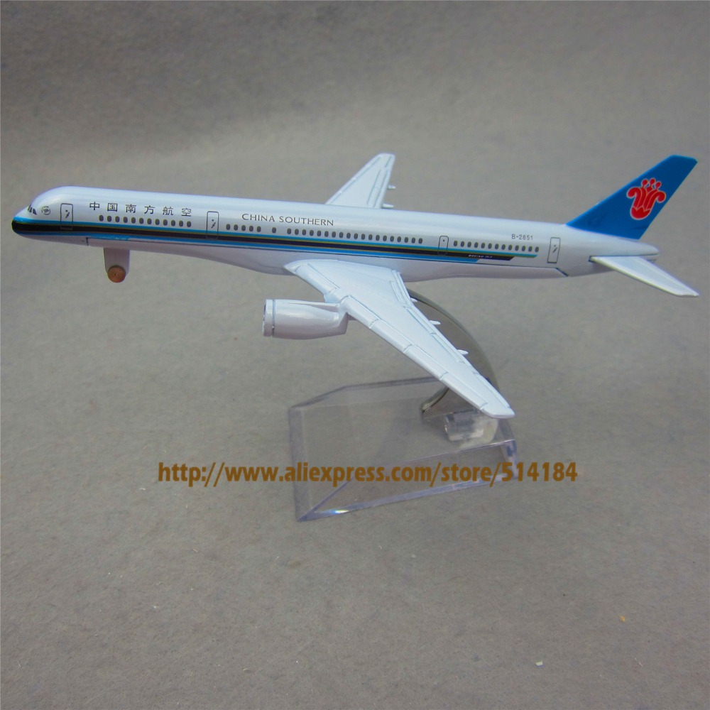 16cm alloy metal air china southern airlines plane model boeing 757