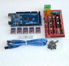 3D Printer 1pcs Mega 2560 R3 + 1pcs RAMPS 1.4 control panel+ 5pcs DRV8825 Stepper Motor Drive Carrier Reprap