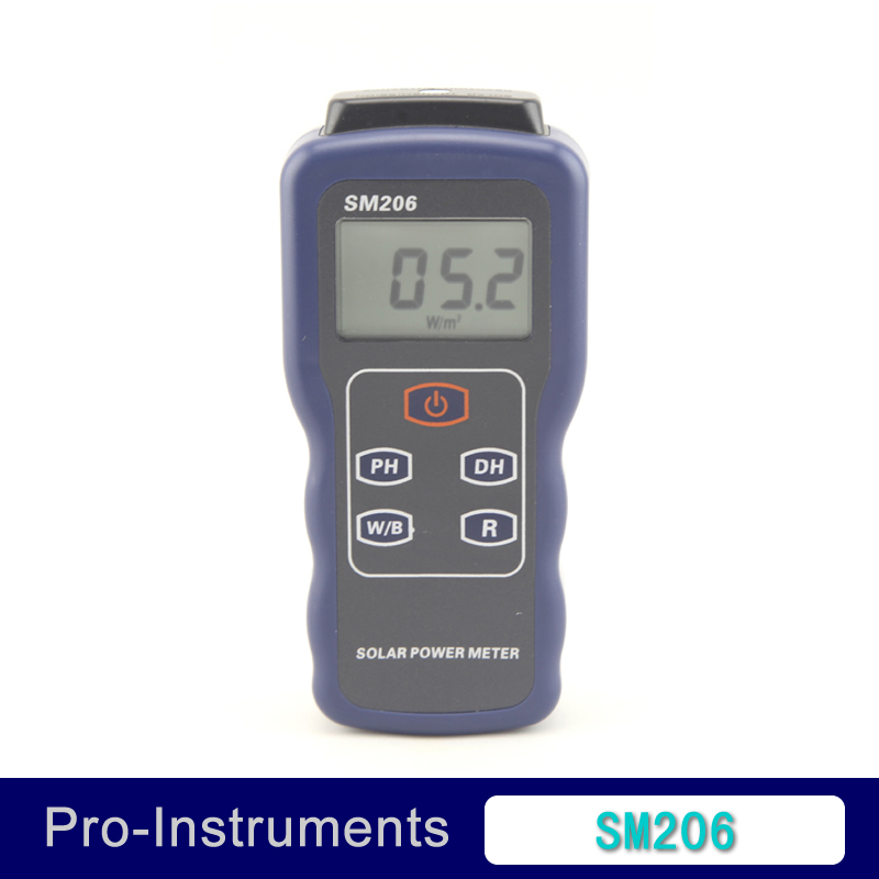 SM206 Solar Power Meter Radiometric power meter Glass light Strength tester  цены