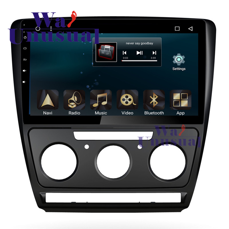 wanusual 10 1 android 6 0 car radio player for skoda. Black Bedroom Furniture Sets. Home Design Ideas