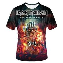 iron maiden shirt the book of souls 3d t shirt men top tee t-shirt male camiseta rock n roll music band 2017 skull tshirt