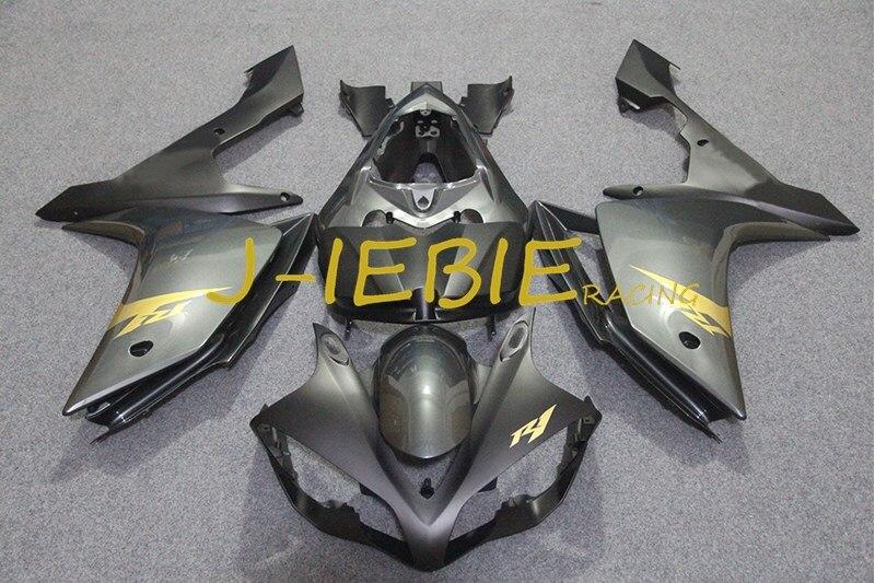 Black gold Injection Fairing Body Work Frame Kit for Yamaha YZF 1000 R1 2007 2008