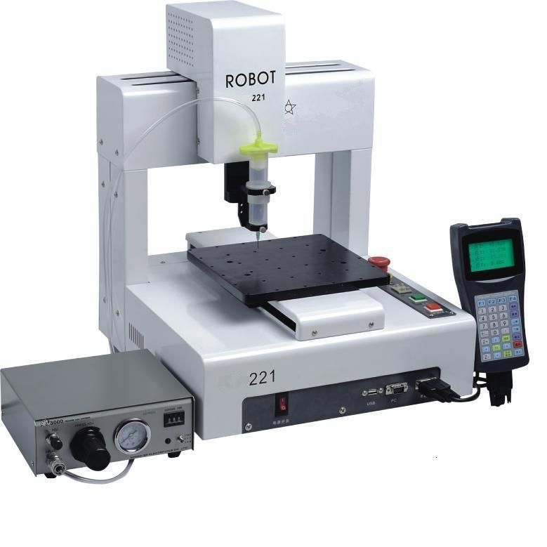 110V/220V LY-221 automatic glue dispensor 3 axis compatible for mobile frame glue dispensing works