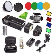 Godox AD200 Kit 200Ws 2.4G TTL Flash Strobe 1/8000 HSS Cordless Monolight with 2900mAh Lithimu Battery and Bare Bulb CD50(China)