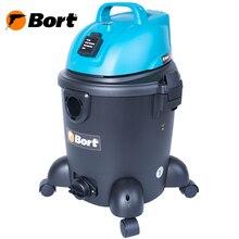 Пылесос для сухой и влажной уборки Bort BSS-1220 (Мощность 1200 Вт,  пылесборник 20 л, длина шланга 2 м, мощность всасывания 240 Вт, подключение электроинструмента, функция выдува, сливное отверстие)