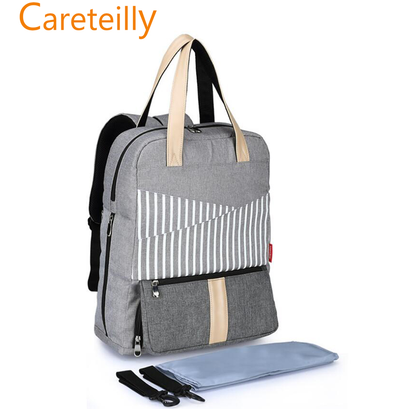 Multi-function Large Baby Diaper Bag Backpack Stroller Straps-Insulated Pockets-Changing Pad
