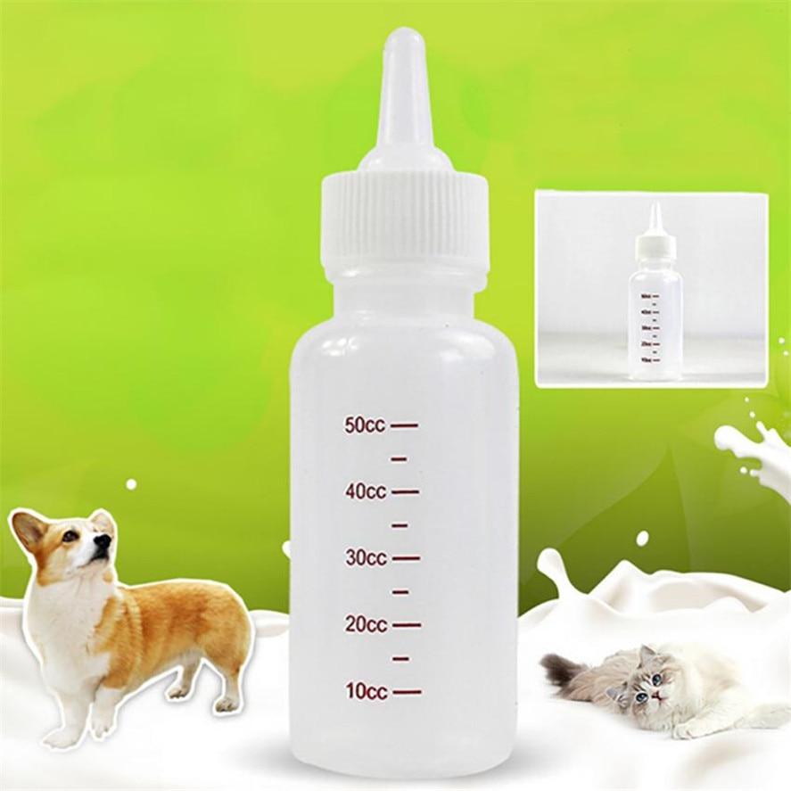 New 1pc Cat Dog Milk 50ml Bottle Pet Puppy Kitten Baby Animal Feeding Bottle Nursing Dogs Water Bottles Pet supplies 15
