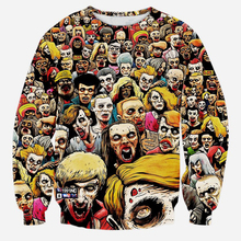 Horror Zombies 3D Print Sweatshirts Men Hip Hop Streetwear Hoodies Boys Colorful Crewneck Outwear Clothes Mans Hipster Tops