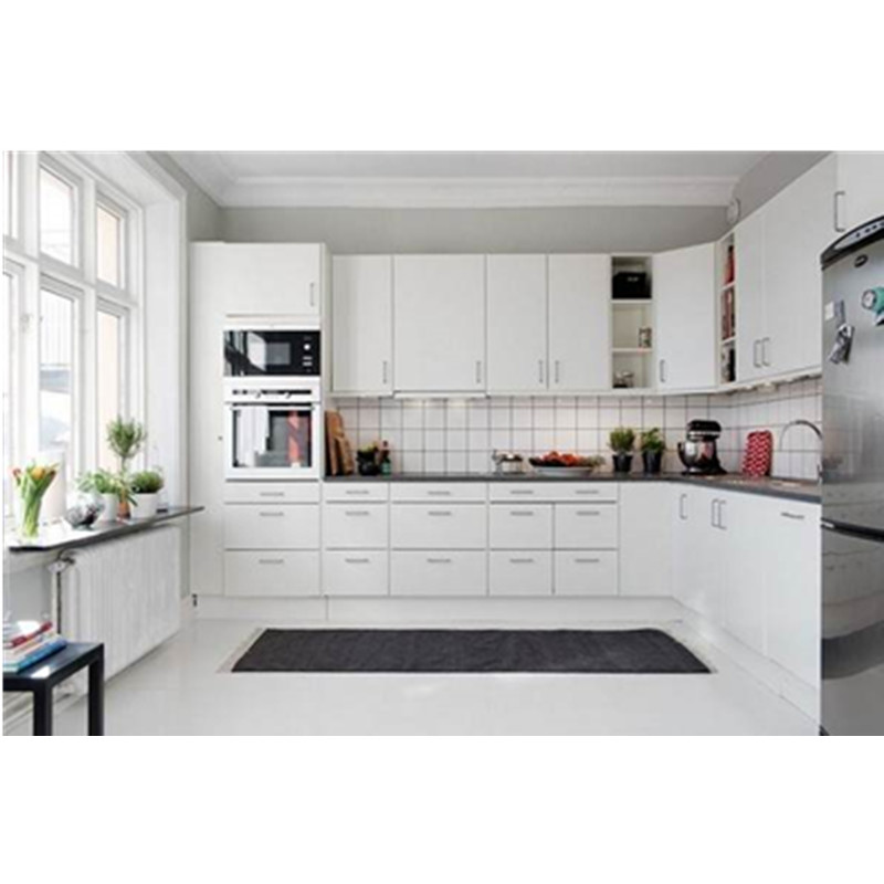 Amazing Furniture Kitchen Cabinet L Shape With: L Shape White Modern Kitchen Cabinet-in Kitchen Cabinets