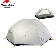 Naturehike Mongar Camping Tent 20D Nylon Fabic Double Layer Waterproof For 2 Persons 3 Season