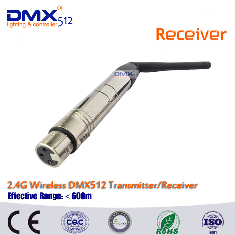 Free Shipping 1pcs  Wireless DMX receiver for stage light ,led moving head 3 years Warranty restaurant pager wireless calling system 1pcs receiver host 4pcs watch receiver 1pcs signal repeater 42pcs call button f3285c