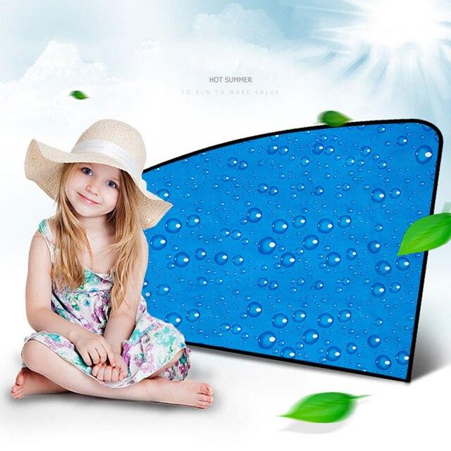 Single-Layer UV Solar Sun Protection Retractable Magnetic Car Curtains Side Visor Summer Sunshade Window Protector Baby