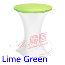 Lime green colour spandex top cover for round cocktail lycra tablecloth wedding banquet and party cocktail table decoration sale
