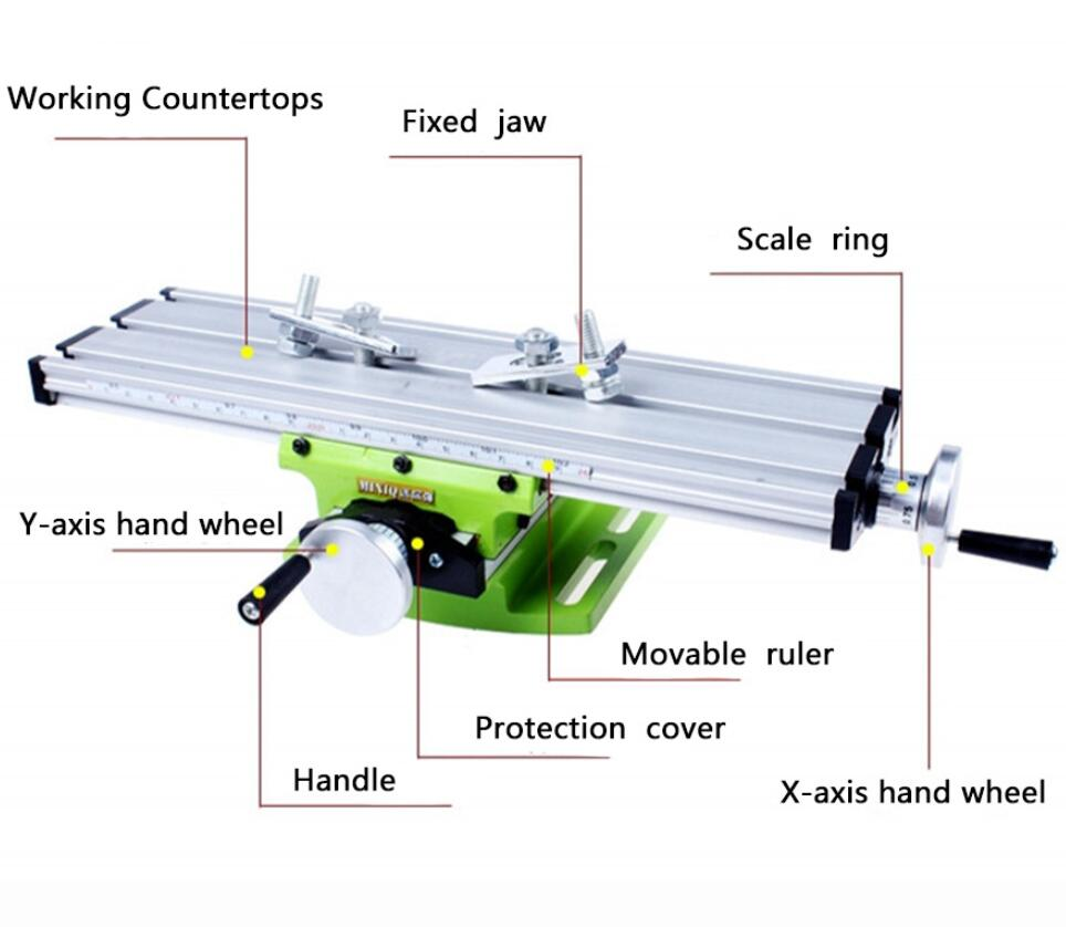 Mini Multifunctional Cross Working Table Machine Tool For Drilling Milling Machine Bench Vise Mechanic Tools