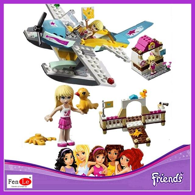 Bela Friends Series Love Lake Flying Club Model Building Blocks 10157 girls  Toys Bricks free shipping