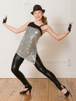 New female jazz performance clothing costumes dance clothes suit shiny Costume