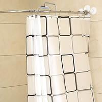 NEW Thickened Stainless Steel Shower Curtain Rod Sturdy Durable Bath Curtain Set