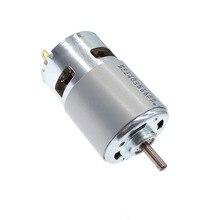 Электродвигатель постоянного тока 12 вольт 775 24V двойной шариковый подшипник 3000rpm4500rpm6000rpm8500rpm10000rpm RS775 большой крутящий момент низких Шум