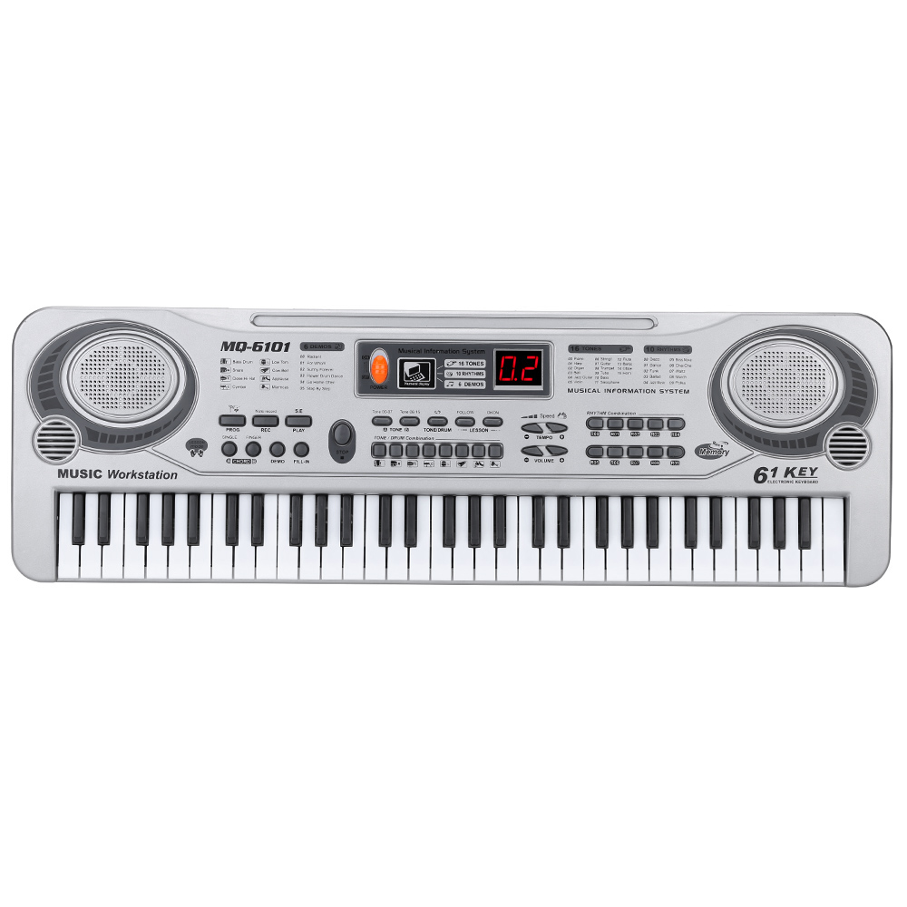 61-Key Keyboard Piano Piano Led Instrument Keyboard 21-Inch Music Education Double-Row Electronic Piano Children Begin