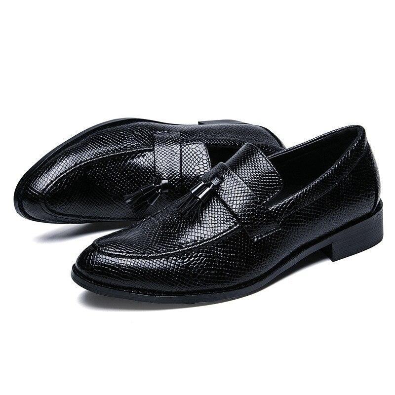 eleganti uomo mocassino Formal Nappe Comodo Slip Uomo nero Scarpe Coccodrillo Mocassini Moda Modello On Merkmak nero 6vagq7wBn