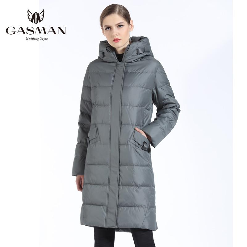 GASMAN 2018 Mode Femme Veste D'hiver Vers Le Bas Femelle À Capuchon Vers Le Bas Parka Longue Pour manteau femmes D'hiver Épaississement grande taille 5XL 6XL - 3