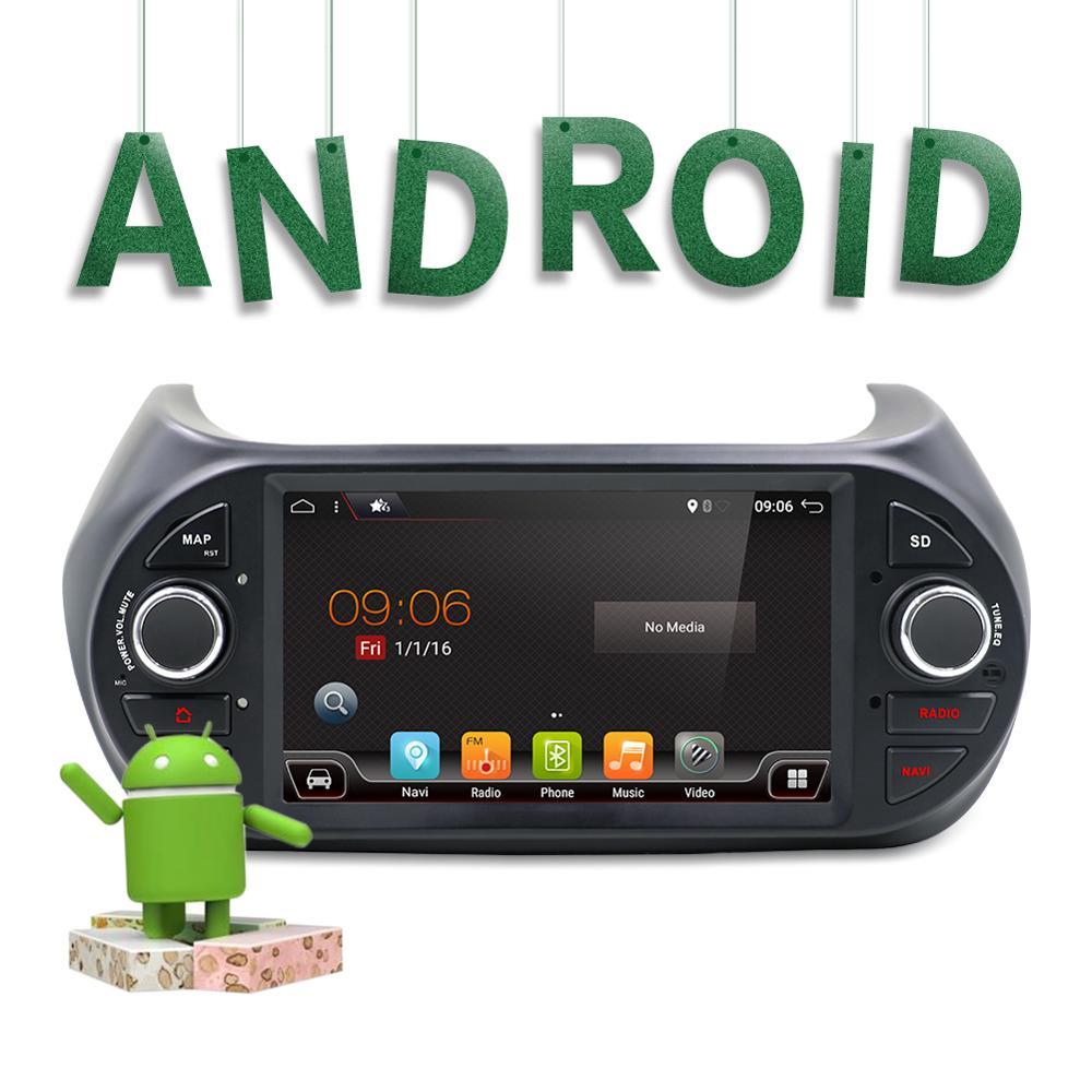 1 din Android 8.1 autoradio dvd Headunit pour Fiat Fiorino 2008-2015 Qubo citroën Nemo Peugeot Bipper Auto radio GPS Navigation