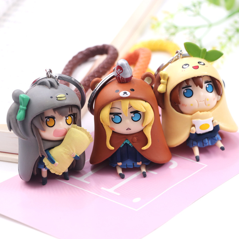Kawaii Love Live Keychain Minami Kotori Kousaka Honoka Maki Nishikino Cos Himouto! Umaru-chan Doma Umaru PVC Figure Pendants Toy