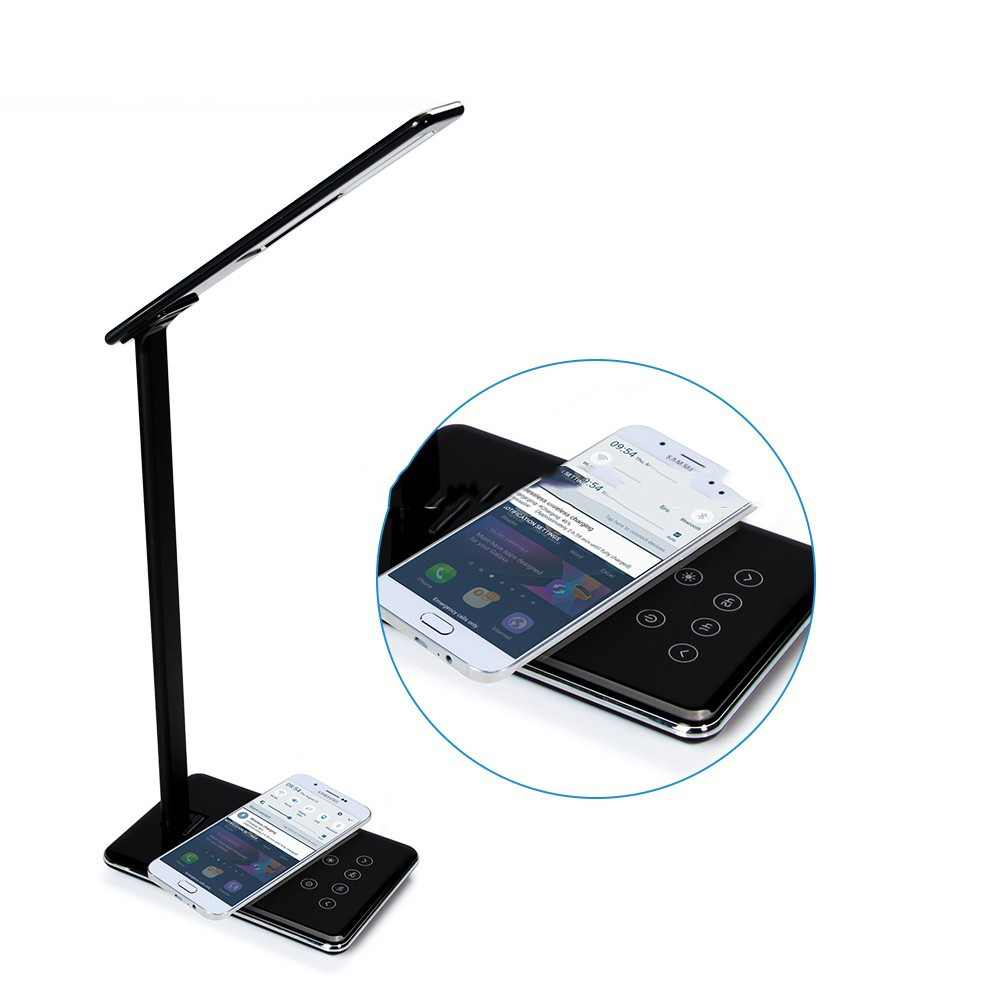 696 WD102 lampe de bureau Qi chargeur sans fil chargeur de téléphone adaptateur pour iPhone X 8 Samsung Galaxy S8