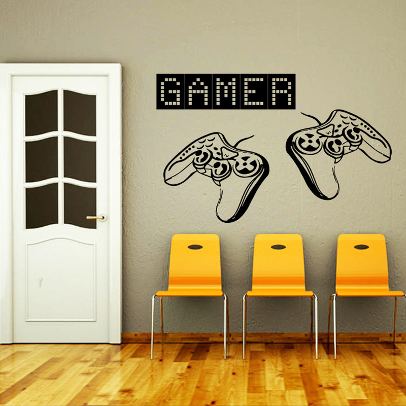 Game Controllers Gamer Gaming Video Game Wall Decal Vinyl Sticker