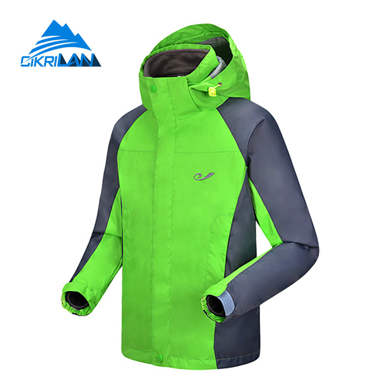 Hot Sale Kids 2in1 Outdoor Sport Coat Boys And Girls Water Resistant Camping Outwear Anti-wear Hiking Climbing Thermal Jacket hot horloge new desigh hot sale colorful boys girls students time electronic digital wrist sport watch 2017may10