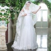 Amant Baiser Robes de Noiva Élégant A-ligne Bohème Robe De Mariée En Dentelle V Cou Perlé Blanc Robes de Chambre Pour Le Mariage En Plein Air
