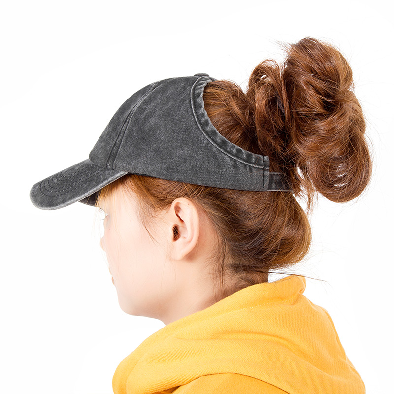 SuperB G 2019 Ponytail Baseball Cap Women Snapback Hat Summer Sun Hats  Casual Adjustable Solid Caps bone bfe633a8c8bd