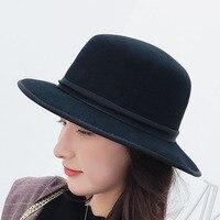 BINGYUANHAOXUAN 2018 Autumn And Winter High Quality Men Women Fedoras 100%wool Sunshade Cap Butterfly Cowboy England Jazz Hat