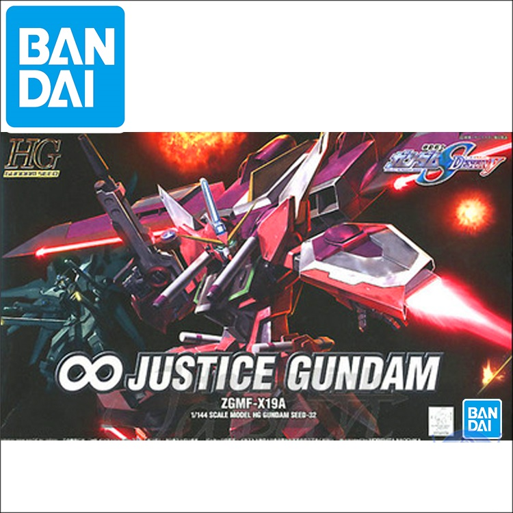 Original Gundam Model HG 1/144 GUNDAM SEED DESTINY Infinity Justice Mobile Suit Hand Building Model Japaness Robot