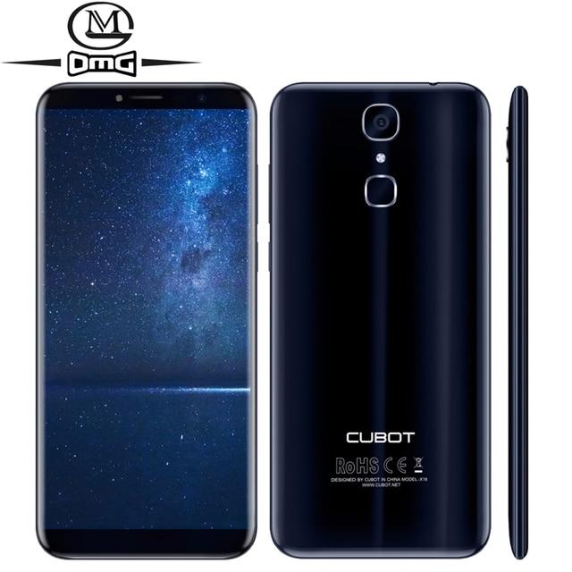 Cubot X18 5,7 ''HD + 18:9 полный дисплей Android 7,0 4G смартфон MT6737T четырехъядерный 3 Гб оперативной памяти 32 Гб rom 16MP отпечатков пальцев мобильный телефон