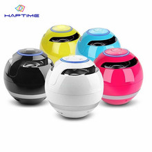 HAPTIME Portable Mini Bluetooth Speaker Ball Super Bass Stereo Wireless Speaker Handfree TF FM Radio With Mic MP3 Loudspeaker ewa a105 mini portable bluetooth speaker w tf handfree function yellow silver