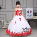 2017 2 color 100% real photo free shipping Vintage ball gown Flower Girl Dresses  Floor Length Christmas gift birthday dress