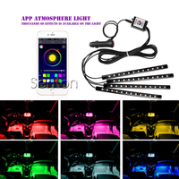 Car Interior Neon Lamp For Android IOS APP Control For Mitsubishi ASX Lancer Outlander I200 Suzuki