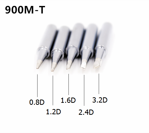 SZBFT Solder Iron Tips 900M-T-0.8D,1.2D,1.6D,2.4D,3.2D Series For Hakko 936 Soldering Rework Station Free Shipping