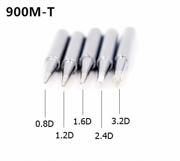 SZBFT Solder Iron Tips 900M-T-0.8D,1.2D,1.6D,2.4D,3.2D Series For Hakko 936 Soldering Rework Station Free Shipping