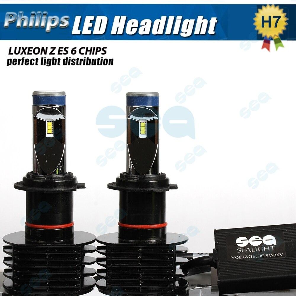 2x Car styling H7 LED P hilips 12000Lm 90W ZES LED Car Bulb Auto Lamp Headlight