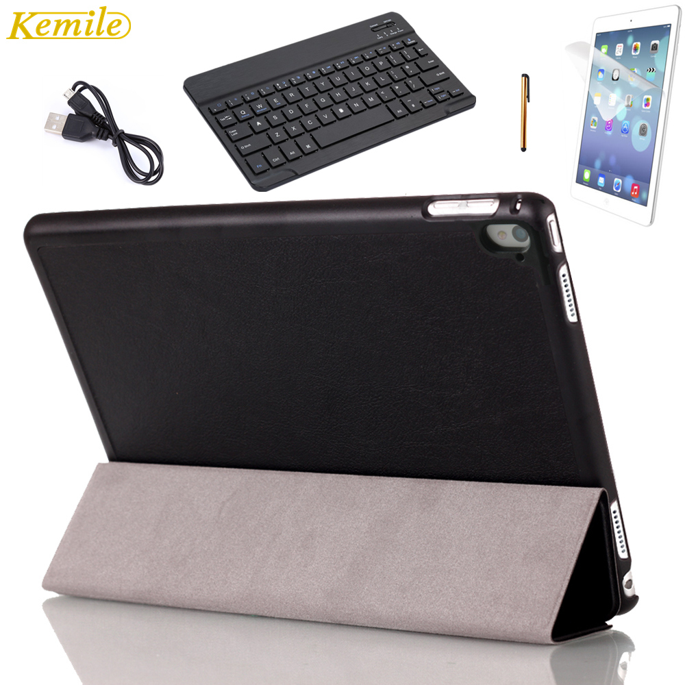 Kemile For iPad Pro 9.7 Case Ultra Slim Lightweight Stand Smart Cover with Auto Sleep/Wake Feature with 9inch Black Keyboard pu leather case for ipad pro 12 9 inch luxury smart tablet cover for ipad pro 12 9 with stand auto wake up an sleep function